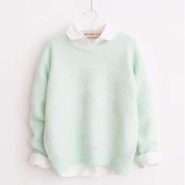 sweater mint pastel green jumper