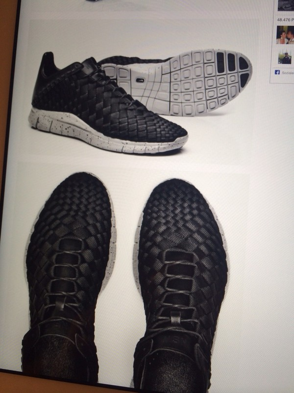 shoes nike free run woven inneva black leather