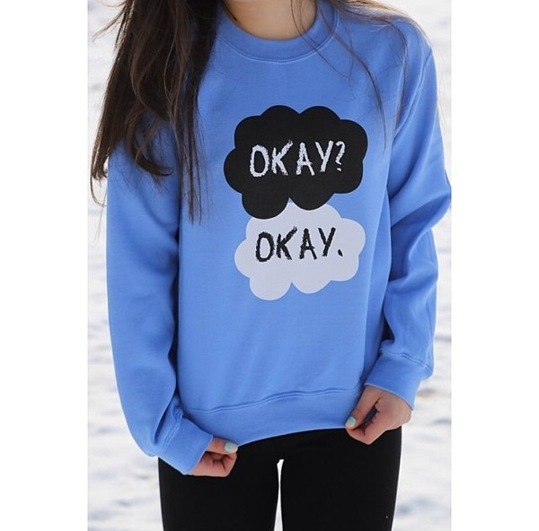 cardigan the fault in our stars sweater identity owl blue book quote on it streetwear streetstyle fashion