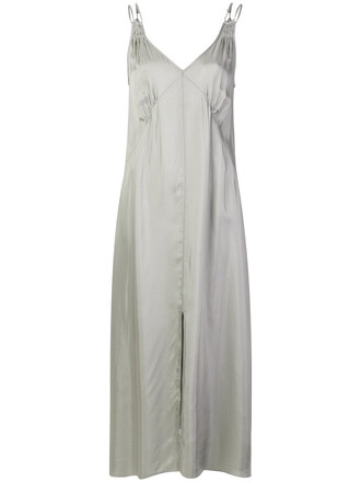 dress slip dress long women grey