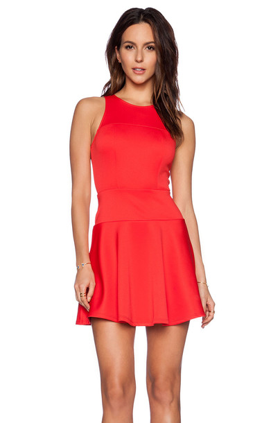 EIGHT SIXTY dress flare dress flare fit red
