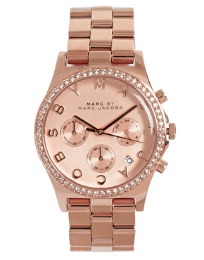 Marc By Marc Jacobs | Marc By Marc Jacobs Rose Gold Chronograph Bracelet Watch at ASOS