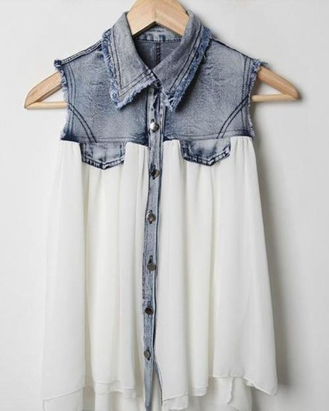 white girl fashion vintage blouse denim