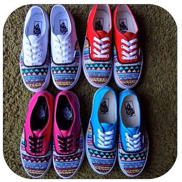 shoes vans colorful