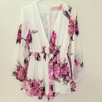 jumpsuit romper summer clothes pink floral fashion girly