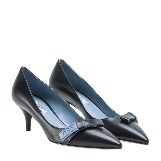Prada bow pumps black shoes