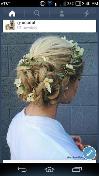 hair accessory hair flower crown flowers hair band flower hair crown romantic