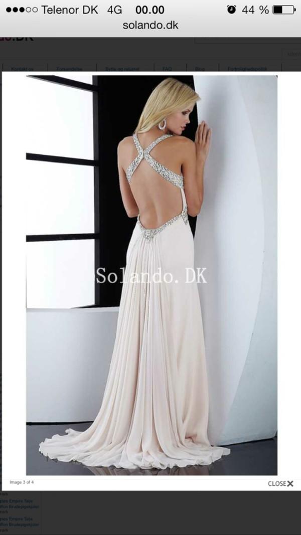 dress prom dress beige dress