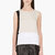 calvin klein collection beige stretch silk satin toral blouse