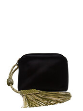 tassel,bag,clutch,satin,black,green