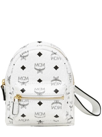 mini backpack leather backpack pouch leather white bag