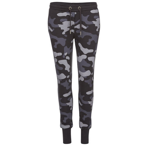 Zoe Karssen Women's Camo Loose Fit Low Waist Sweat Pants - Black