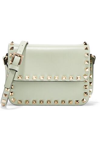 mini bag shoulder bag leather mint