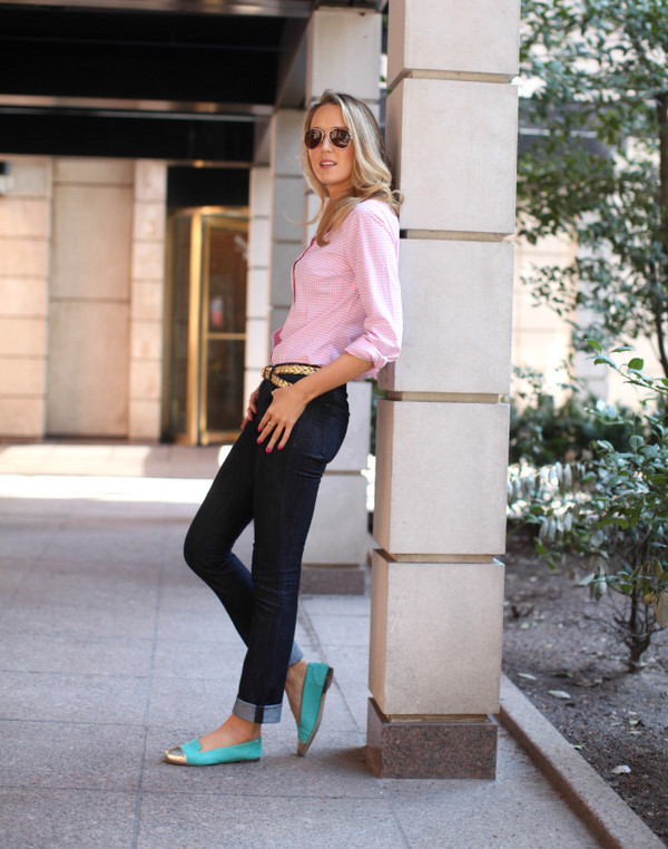 the classy cubicle shirt jeans jewels belt shoes