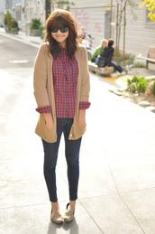 blushing ambition,cardigan,brown sweater,sweater