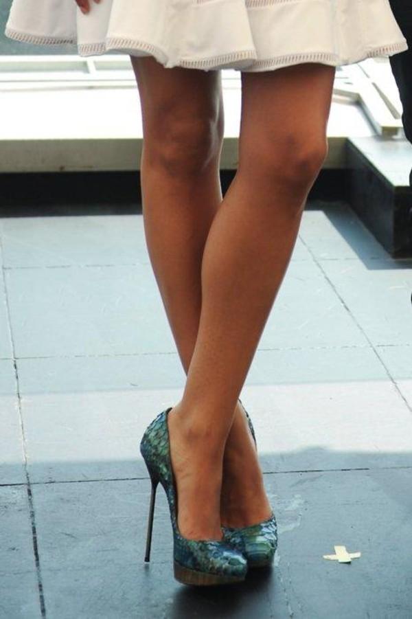 Green  Inch Heel Shoes