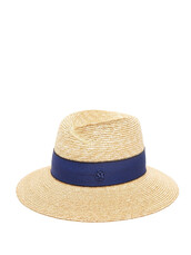 hat,straw hat,blue