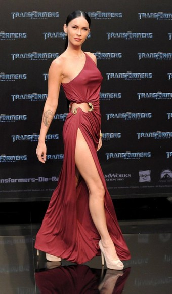dress megan fox red dress sexy
