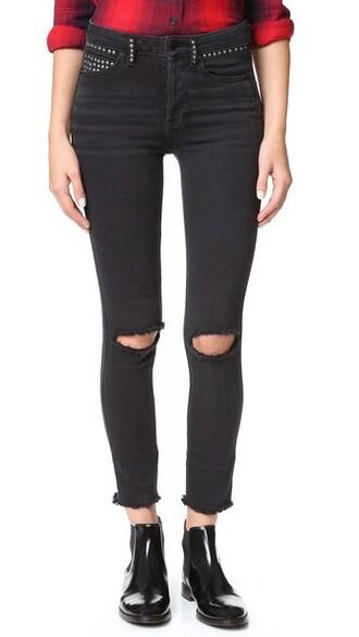jeans skinny jeans studded black