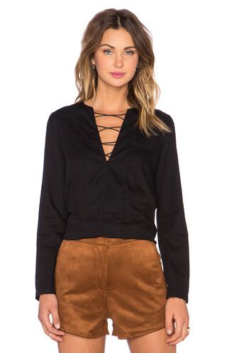 shirt lace black