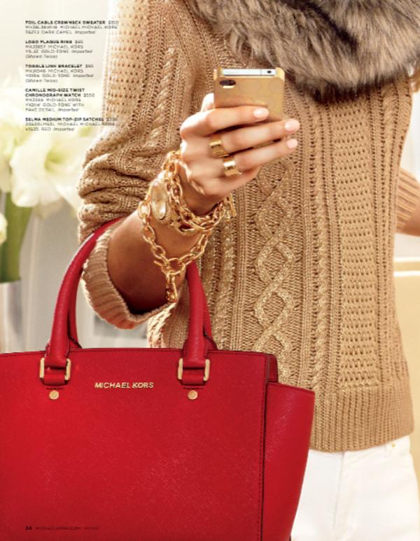 sweater lookbook fashion michael kors bag jewels