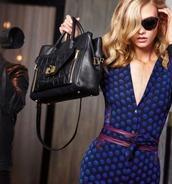 dress,diane von furstenberg,polka dots,wrap dress,elegance,chic,blue,blue dress,furstenberg,designer,publicity,model,star style,karlie kloss,fall winter outfits,autumn/winter,2016 trends,trendy