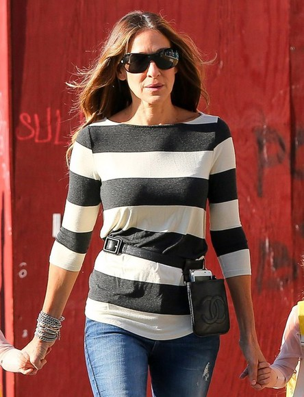 sarah jessica parker top blouse fall outfits