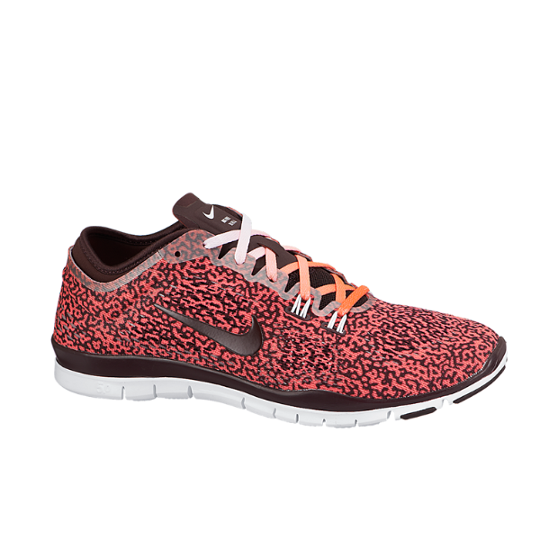 The Nike Free 5.0 TR Fit 4 Mezzo Print Women's Training Shoe.