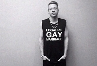 t-shirt macklemore top boy black clothes gay pride tank top celeb rapper legalize lgbt marriage true shit musician music menswear unisex message