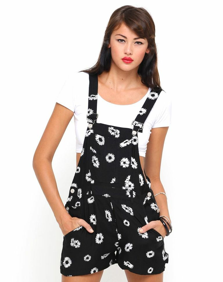 Buy Motel Demi Jumpsuit in Black Daisy at Motel Rocks