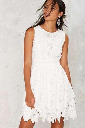 dress white lace dress summer dress