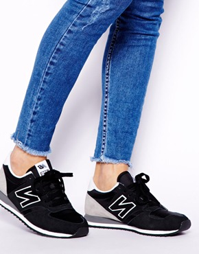 new balance 420 black grey trainers