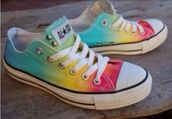 shoes,chuck taylor all stars,colorful,rainbow,rainbow converse,converse,allstars converse