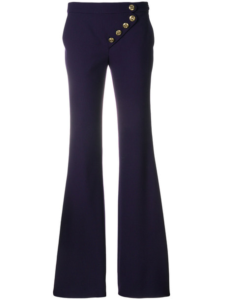 Chloe women spandex silk wool purple pink pants