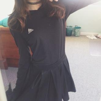 skirt grunge pale grunge adidas black and white american apparel