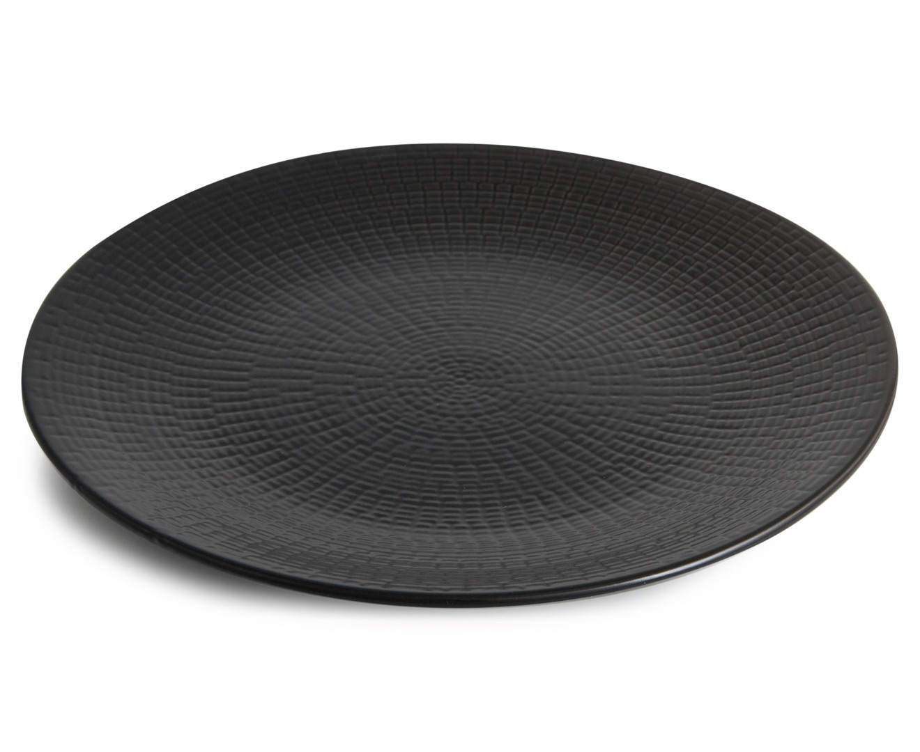 & co. textured design 27cm dinner plate 6-pack - black