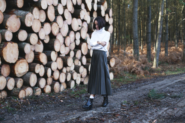 lucitisima blogger pleated skirt