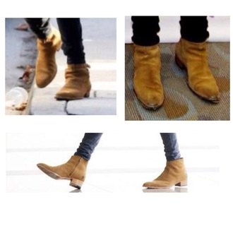 shoes brown boots harry styles mens shoes suede shoes