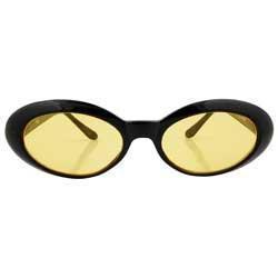 PUNKEES Yellow Oval Sunglasses