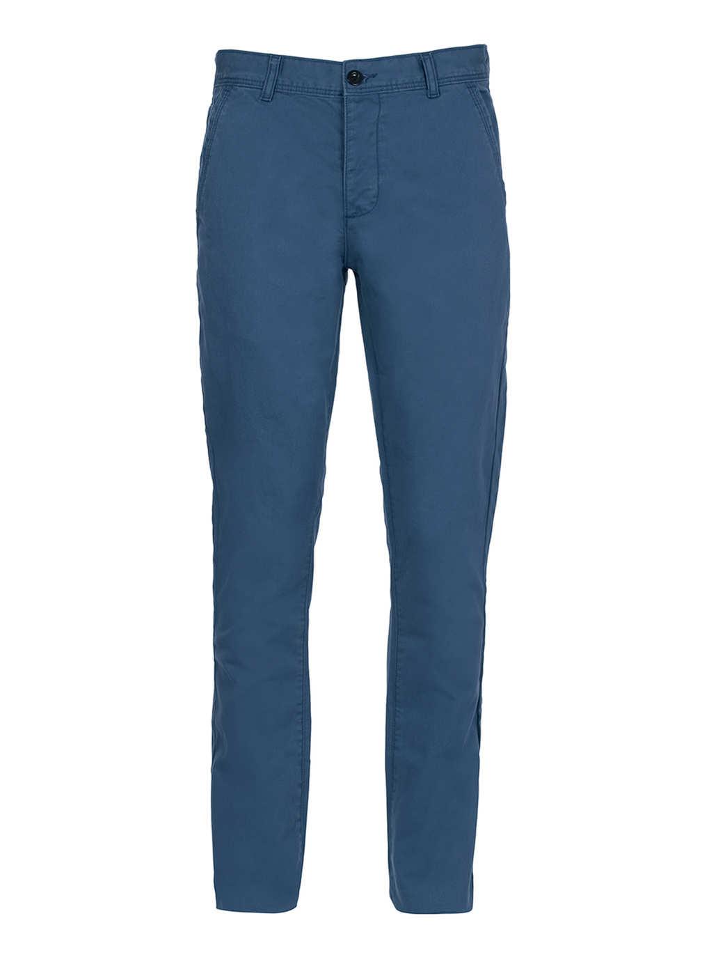 Dark Blue Vintage Slim Chinos - Men's Chinos - Clothing