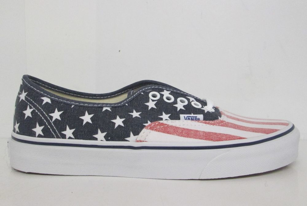 Vans authentic usa american flag skateboarding shoes vn 0voec7h select size