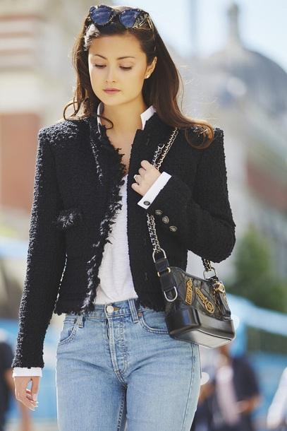 bag chanel gabrielle small hobo bag black bag chanel bag chanel jacket black jacket sunglasses Accessory