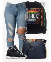 sweater,black college