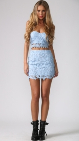 top shirt skirt style two-piece crochet crop tops crop top bustier crochet shorts shoes