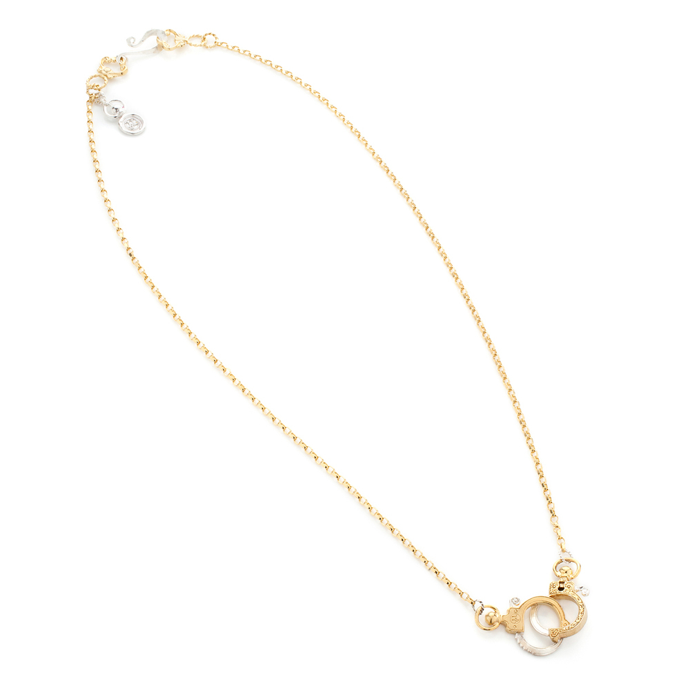 Mini Gold Handcuff Necklace | Jessica de Lotz Jewellery