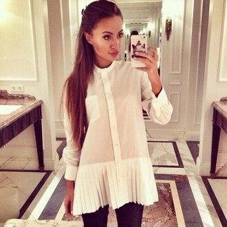 blouse shirt summer white white shirt ruffle outfit
