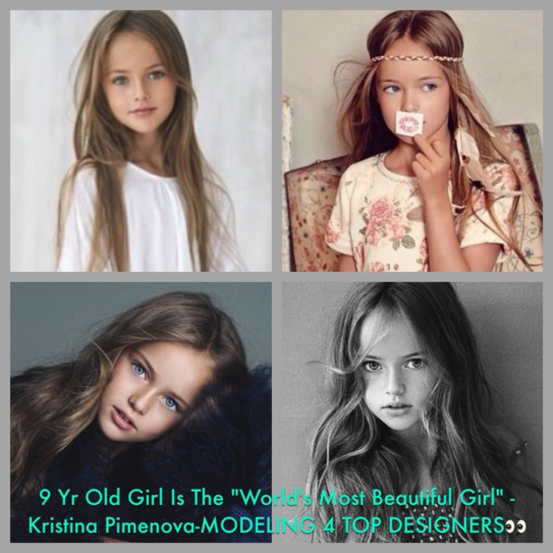 kristina pimenova model kids fashion make-up