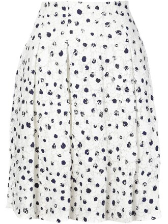 skirt embroidered floral white
