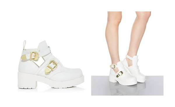shoes chunky boots white shoes cut out shoes open shoes