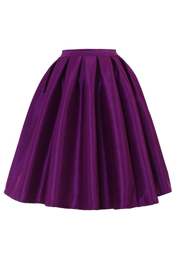 skirt purple a-line midi skirt